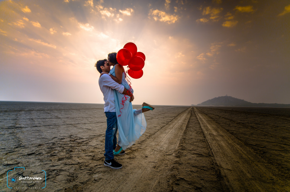 Pre – Wedding Shoot at Sambhar Lake